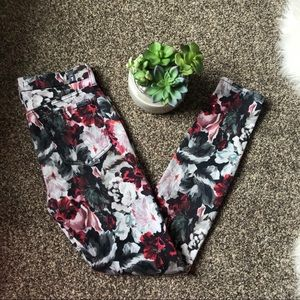 🆕7 For All Mankind Floral Skinny Jeans